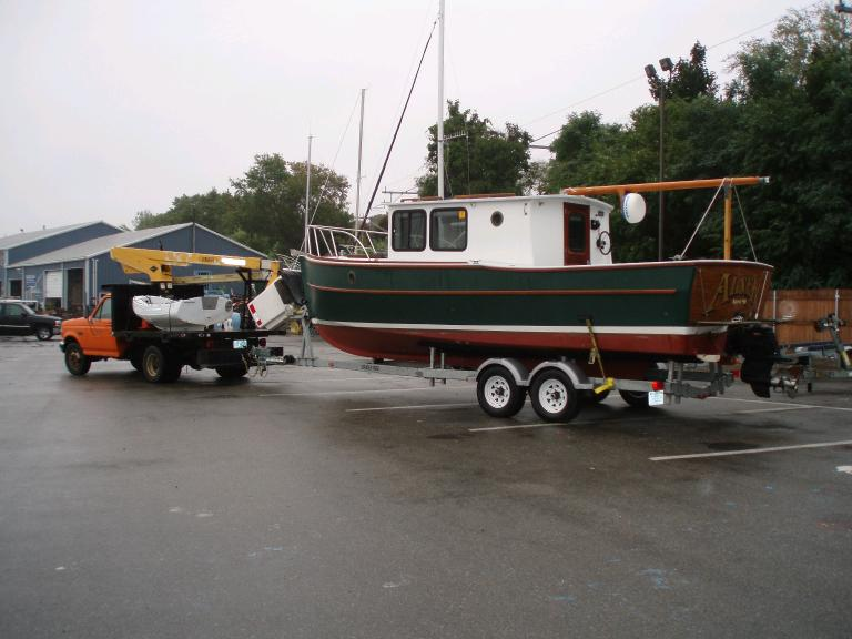 Alsek on trailer