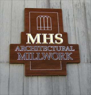 sandblasted and carved cedar sign